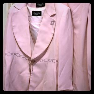 Ladies pink dress suit